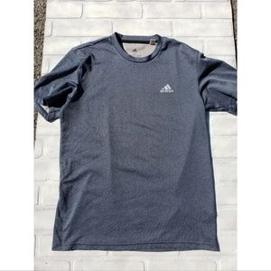 Adidas Blue Short Sleeve Shirt